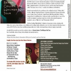 72004 BENNY GOLSON The Whisper Not Tour Cover back