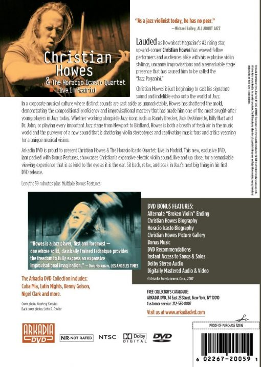 Christian Howes & The Horacio Icasto Quartet: Live In Madrid back