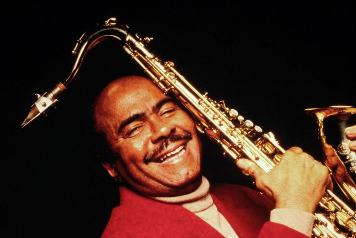 Benny Golson close up leaning back sax lighter Up Jumped